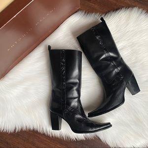 Antonio Melani Leather Embossed Tooled Boots 9.5